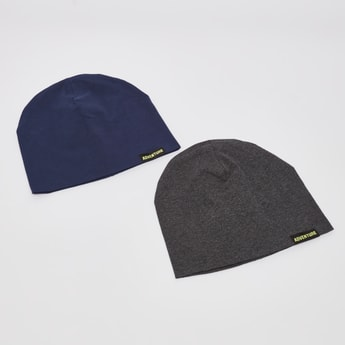 Set of 2 - Solid Beanie Cap
