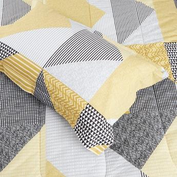 لحاف فردي بطبعات تجريدية وغطاء وسادة - 220x160 سم