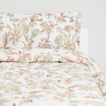 Floral Print Comforter Set - 220x230 cms