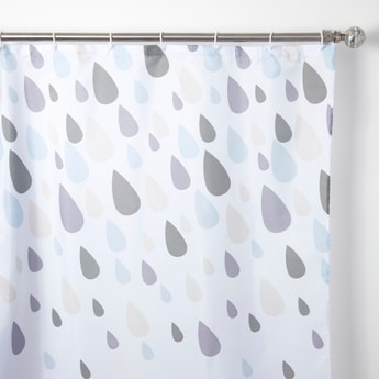 Printed Shower Curtain with Rings - 180x180 cms