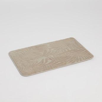 سجادة حمام مستطيلة بارزة الملمس بتفاصيل أوراق شجر - 70x45 سم