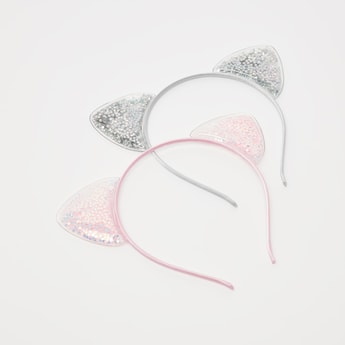 Set of 2 - Hairband with Cat Ear Applique