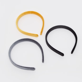 Set of 3 - Textured Fabric Hairbands