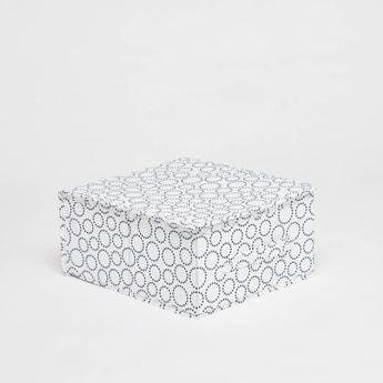 صندوق تخزين بطبعات ومقبض - 33x28x15 سم