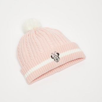 Minnie Mouse Embroidery Beanie Cap