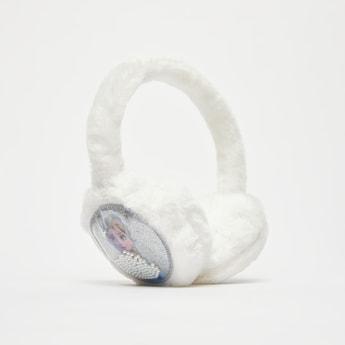 Frozen Print Plush Textured Ear Muffs