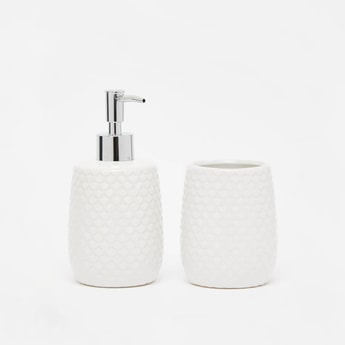 Textured 2-Piece Bath Accessories Set