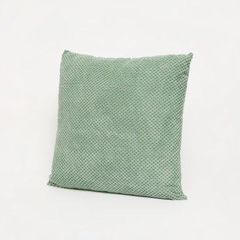 Textured Square Filled Cushion with Zip Closure - 45x45 cms