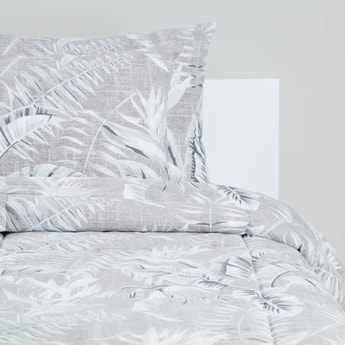 Leaf Print 3-Piece King Comforter Set - 230x220 cms