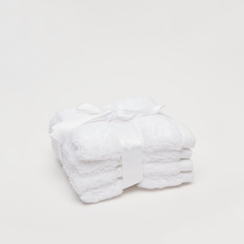 Set of 4 - Textured Egyptian Cotton Face Cloth - 30x30 cms