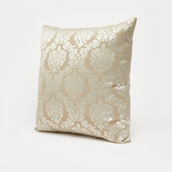 Foil Print Filled Cushion with Zip Closure - 43x43 cms