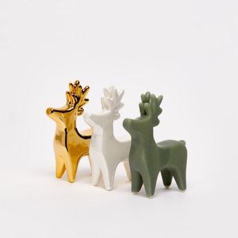 ديكور بتصميم حيوان الرنة طقم من 3 قطع