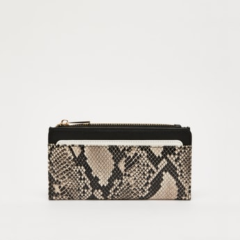 Animal Print Bi-Fold Wallet with Press Button Closure