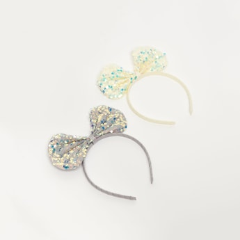 Set of 2 - Hairbands with Embellished Bows