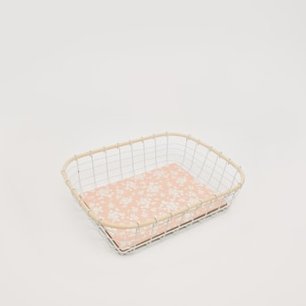 Floral Base Metallic Decorative Basket