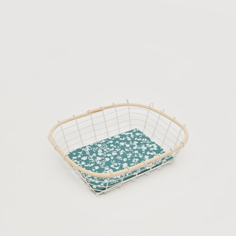 Printed Decorative Basket - 33x25x8.5 cms