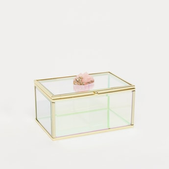 Transparent Rectangular Decorative Box - 15x10x7.5 cms