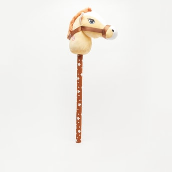 Horse Plush Detail Interactive Toy with Star Print Wand