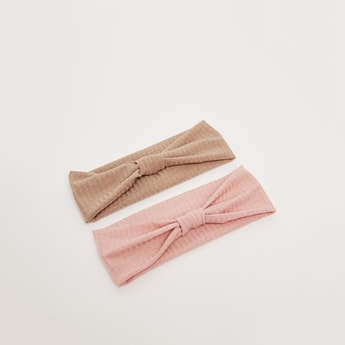 Pack of 2 - Textured Hairband with Knot Detail