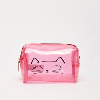 شنطة ملونة بتصميم وجه قطة