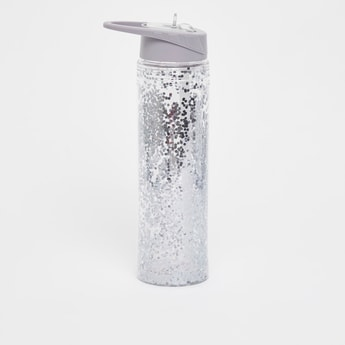 Glitter Finished Bottle with Sipper Opening