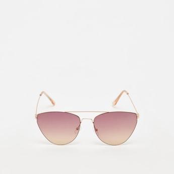 Solid Metal Gradient Sunglasses
