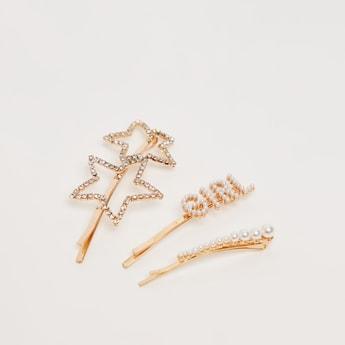 Assorted 3-Piece Hair Clip Set