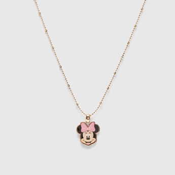 Minnie Mouse Pendant Necklace with Lobster Clasp Closure