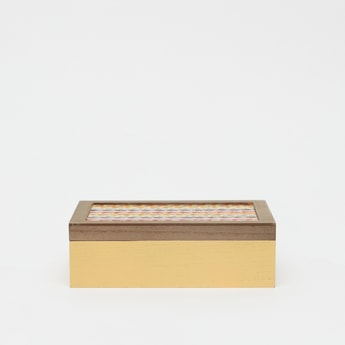 Decorative Rectangular Box with Textured Lid