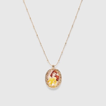 Princess Detail Pendant Necklace with Lobster Clasp Closure