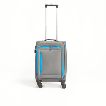 Solid Softcase Trolley Bag with Retractable Handle - 35x22.5x58 cms