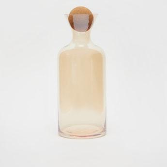 قارورة مياه زجاجية سادة مع سدادة