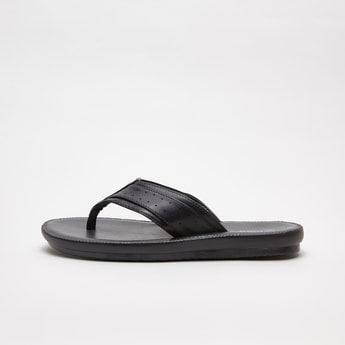 Textured Sandals with Perforated Straps