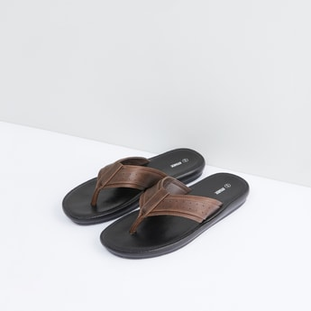 Flip Flops with Broad Perforated Straps