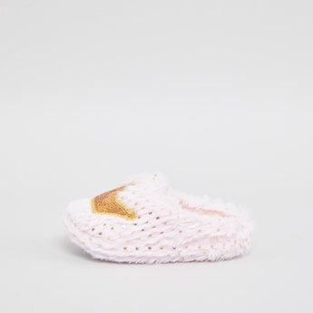 Sequin Applique Detail Bedroom Slippers