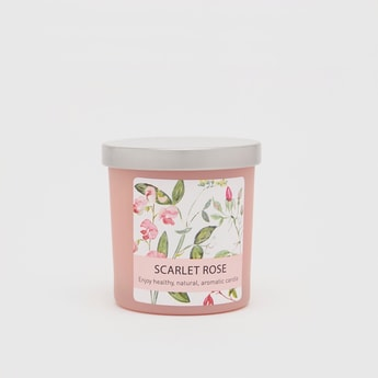 Scarlet Rose Jar Candle