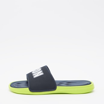 Text Print Slides with Cut Detail Footbed