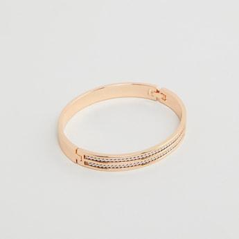 Embellished Bracelet with Foldover Clasp