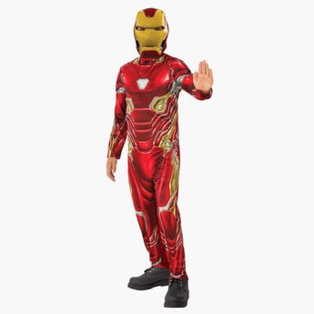 Iron Man Costume Jumpsuit with Mask