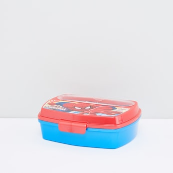 Spider-Man Printed Lunch Box with Cutlery