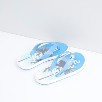 Printed Flip Flops with Slip-On Closure