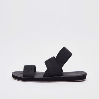 Textured Sandals with Slingback