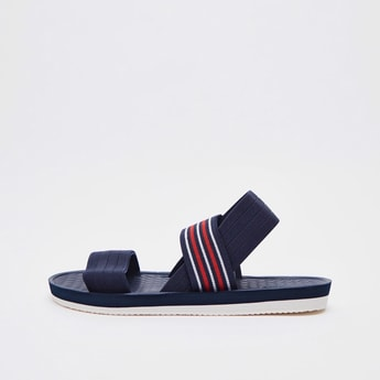 Textured Sandals with Elasicised Straps