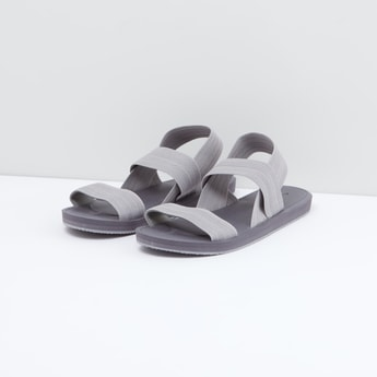 Textured Sandals with Slingback Closure