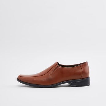 Stitch Detail Formal Slip-On Shoes