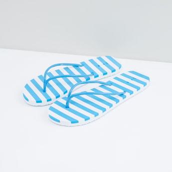 Striped Flip Flops with Sleek Straps