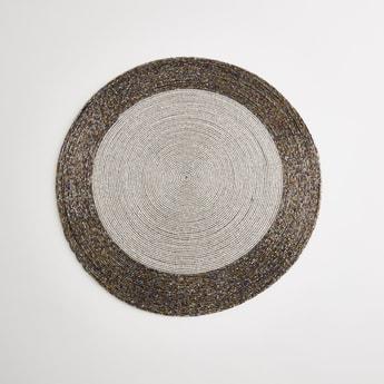 Beaded Circular Placemat - 36x36 cms