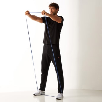 Printed Track Pants with Drawstring Closure