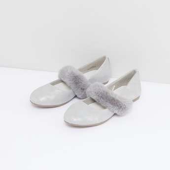 Plush Detail Slip-On Shoes