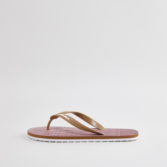 Textured Flip Flops with Straps